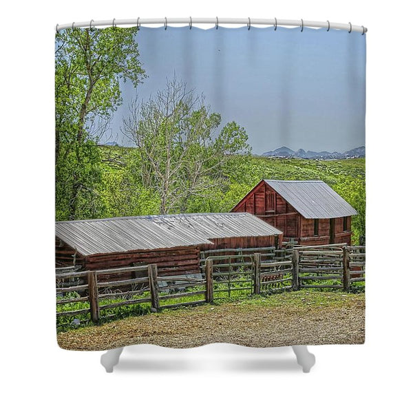 Boxelder Drive Shower Curtain