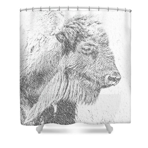 Buffalo Blizzard Shower Curtain