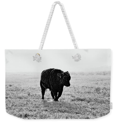 Bull After Ice Storm Weekender Tote bag