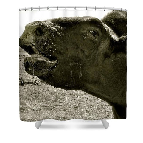Bull Call Shower Curtain