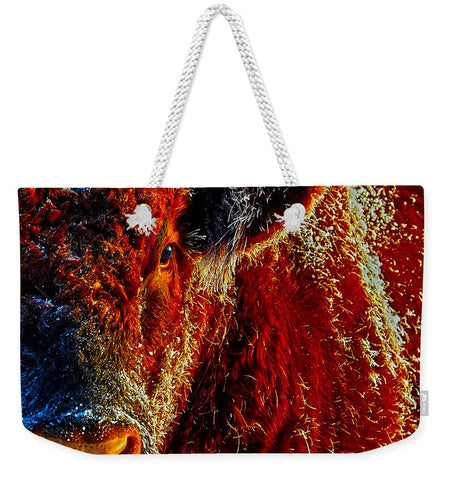 Bull On Ice Weekender Tote bag