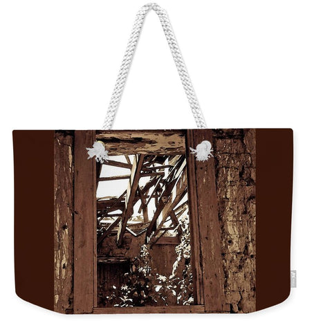 Bunk House Window Weekender Tote bag