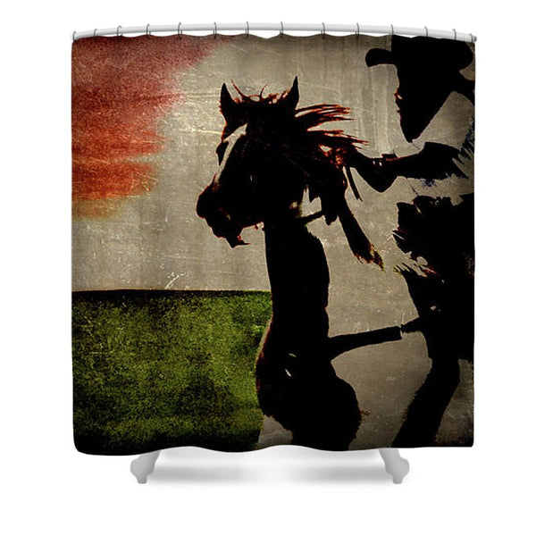Burning Daylight Shower Curtain