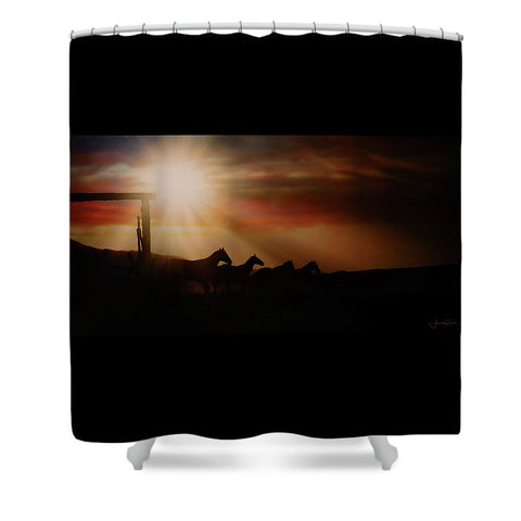 Caballo Sunset Shower Curtain