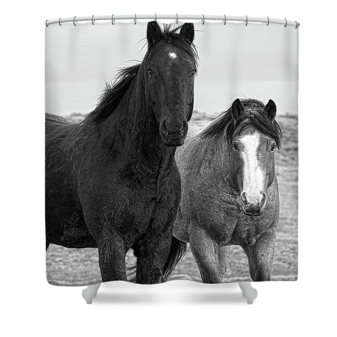 Coated Curiosity Shower Curtain