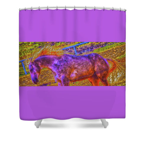 Colors in Sync Shower Curtain