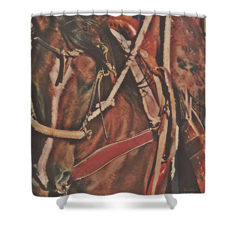 Cotton Rope and Bosal Shower Curtain