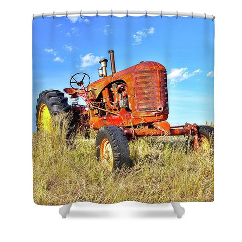 Diesel Red Shower Curtain