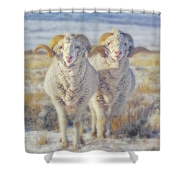 Double the Ram Power Shower Curtain