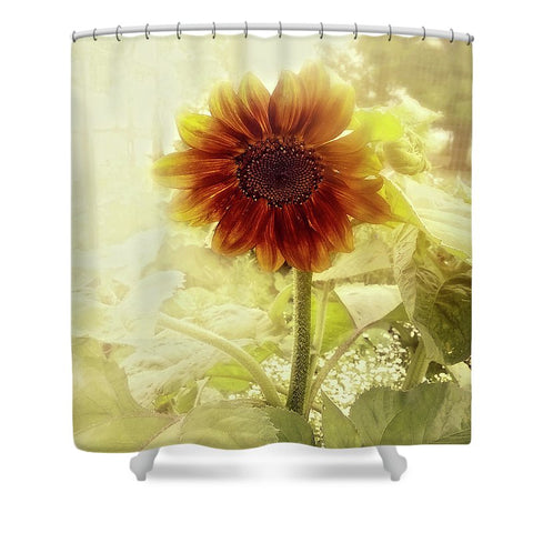 Dusty Retro Sunflower Shower Curtain