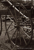 Wagon and Wheel Canvas Print
