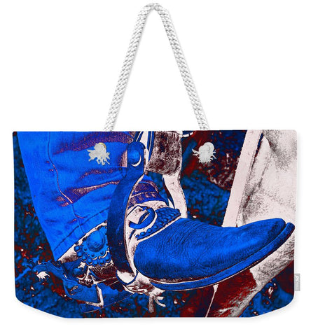 Electric Cowboy Boot Weekender Tote bag