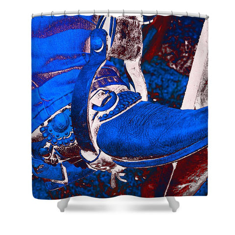 Electric Cowboy Boot Shower Curtain