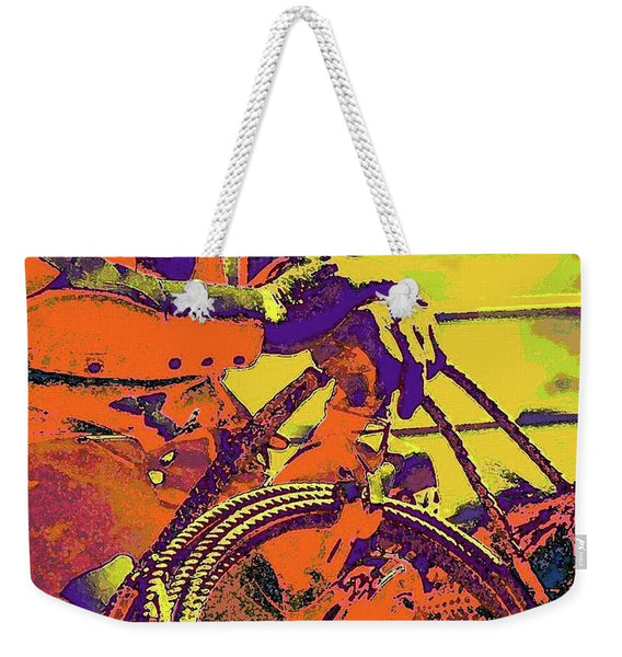 Electric Cowboy Weekender Tote bag