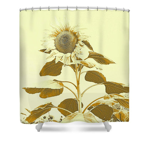 Golden Rayed Shower Curtain