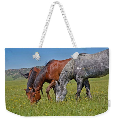 Grass Grazing Time Weekender Tote bag