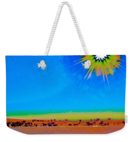Hay Meadow to Water Weekender Tote bag