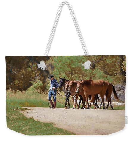 He Leads Me to Still Waters Weekender Tote bag