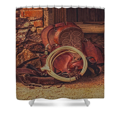 Head Wrangler's Saddle Shower Curtain