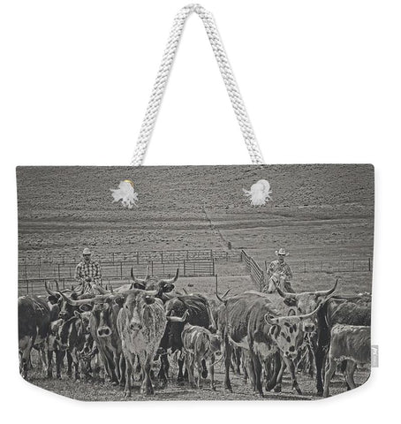 Heading Back to Open Range Weekender Tote bag
