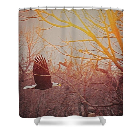 Home By Sunset Shower Curtain