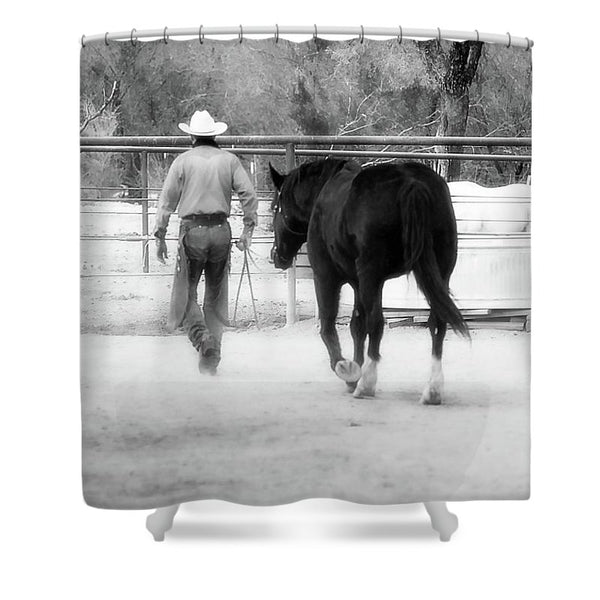 Hour By Hour I Place my Days in Your Hands Shower Curtain