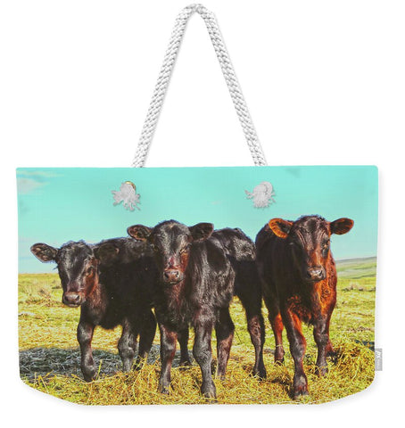 In the Mood for Hay Weekender Tote bag