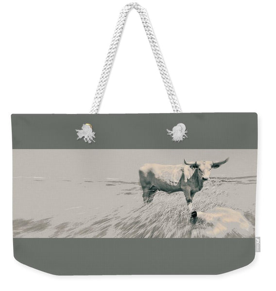 In the Still of the Grey Weekender Tote bag