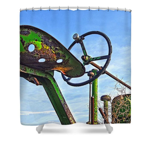 John Deere Seat Shower Curtain