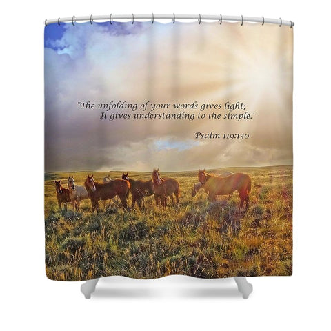 Led By The Light Inspirational Shower Curtain