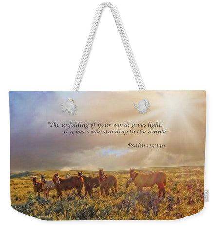 Led By The Light Inspirational Weekender Tote bag