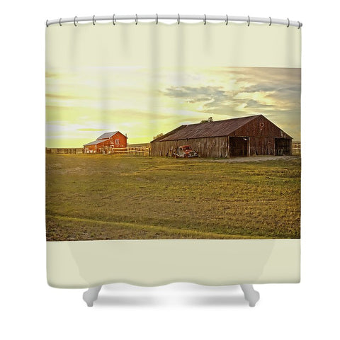 Leuenberger Barn at Sunset Shower Curtain