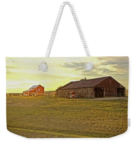 Leuenberger Barn at Sunset Weekender Tote bag