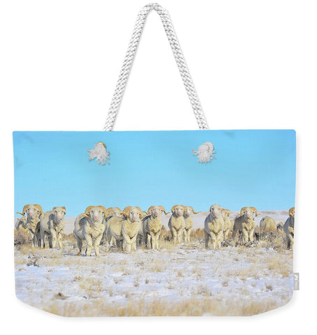 Line Em Up Rams Weekender Tote bag