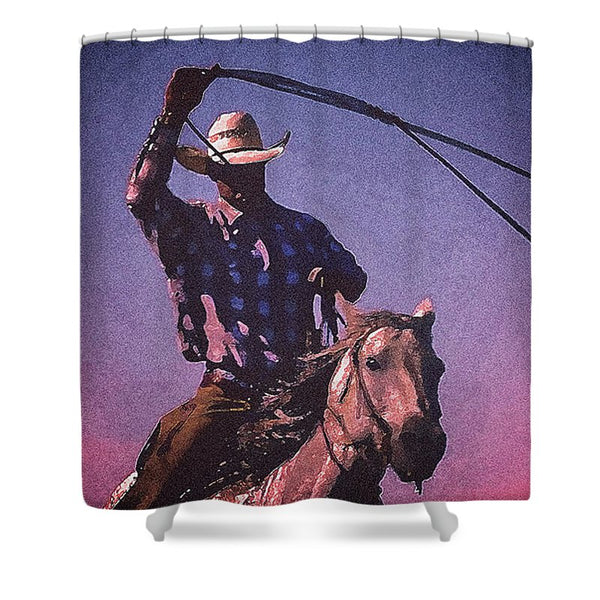 Midnight Cowboy Shower Curtain