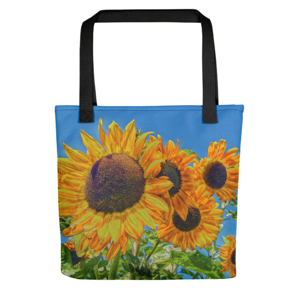 Sun and Flower Conversation Tote bag