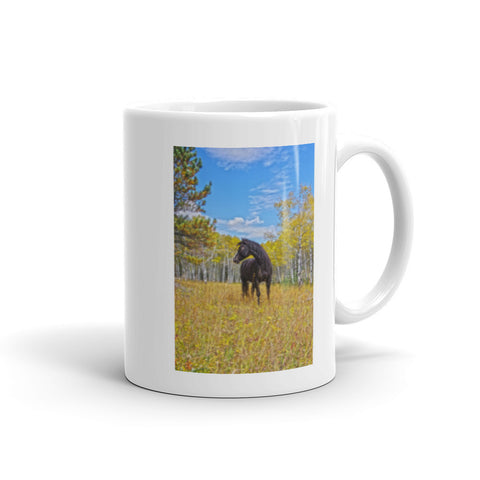 Aspen Gold in Black and White Mug