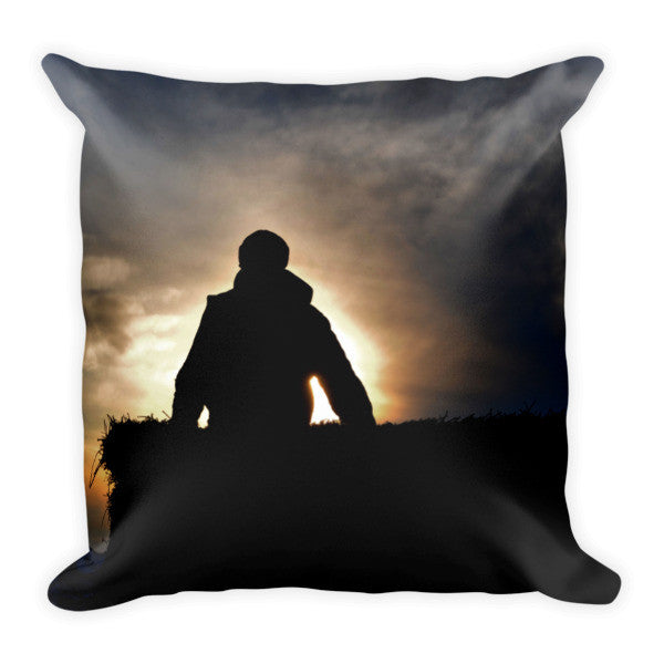 Bucking Hay At Sunrise Throw Pillow