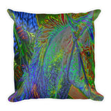 Listening In Color Throw Pillow