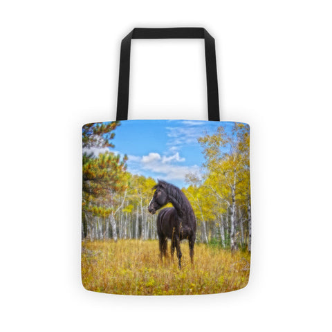 Aspen Gold in Black and White Tote bag