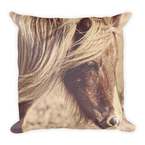 Blue Eyes Vintage Throw Pillow