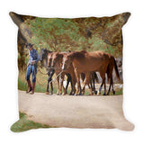 He Leads Me To Still Waters Throw Pillow