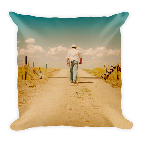 That Dusty Road Throw Pillow