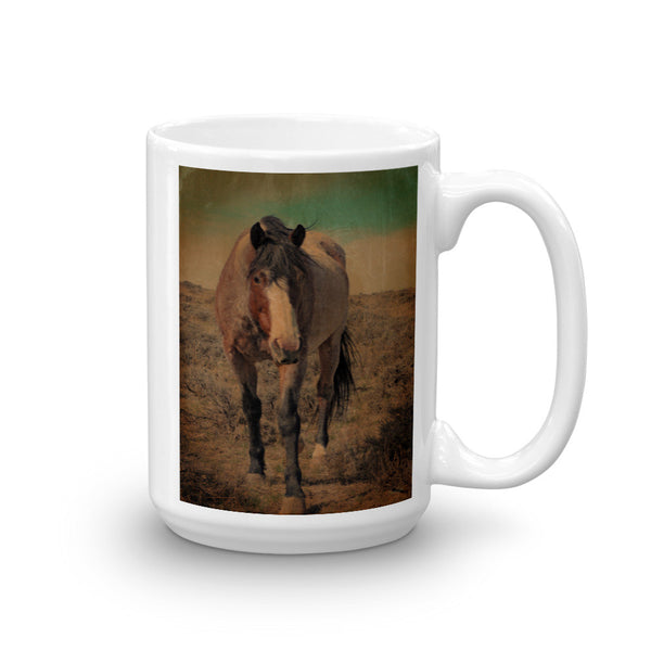 Red Roan and Sage Brush Mug