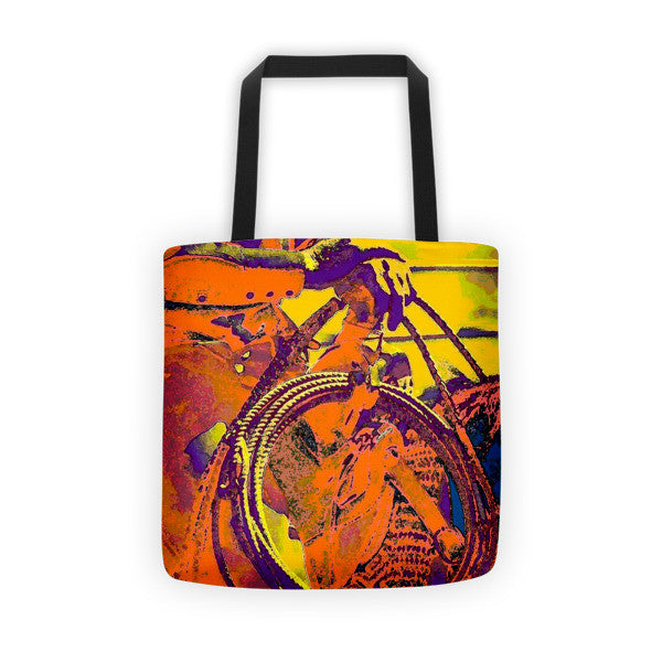 Electric Cowboy Tote bag