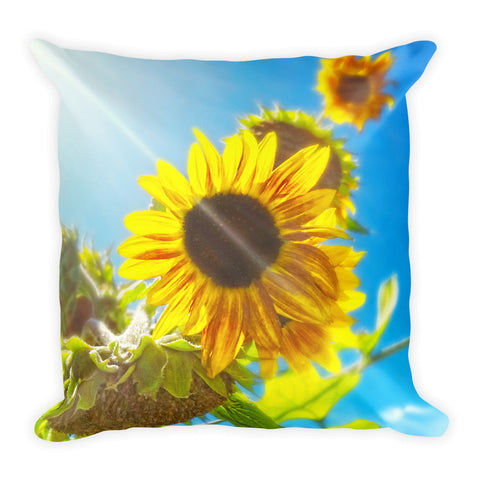Sunflower and Sunlight Throw Pillow