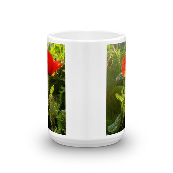 Red Poppy at Sunset Mug