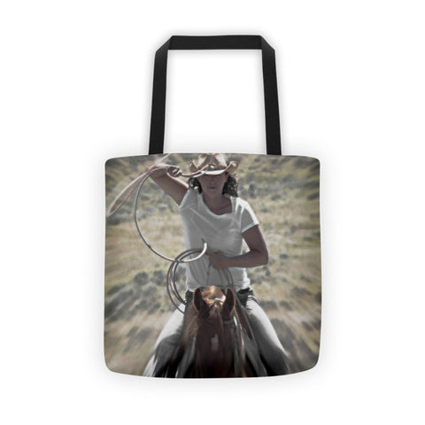 On a Rope and a Prayer Tote bag