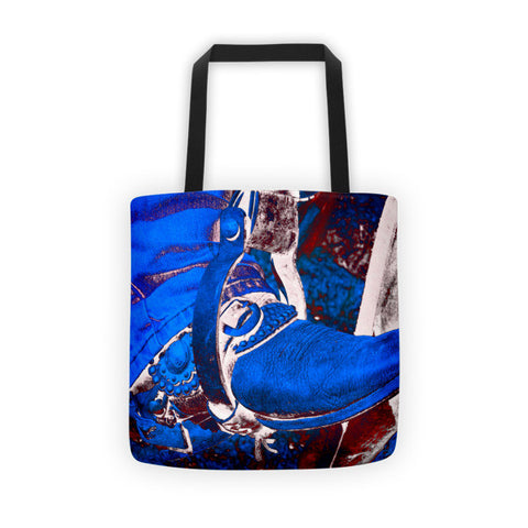Electric Cowboy Boot Tote bag