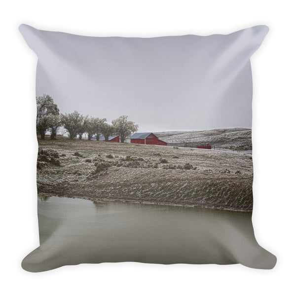 Early Wyoming Winter Throw Pillow